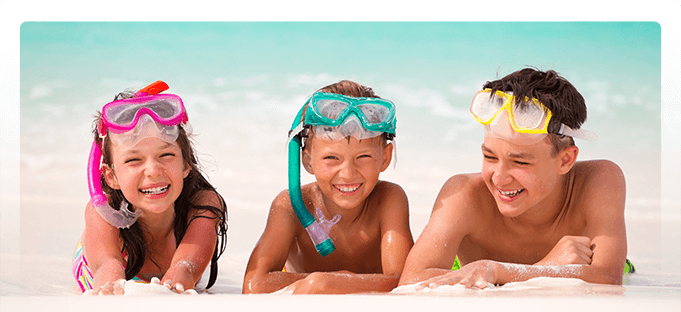 Kids on the beach - Pediatric Dentist in Poway, CA