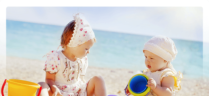 sisters in the sand - Pediatric Dentist in Poway, CA